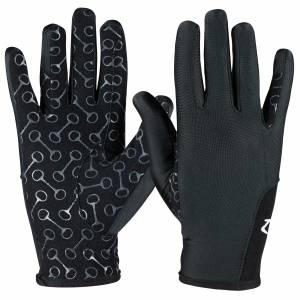 Horze Kids Riding Gloves with Silicone Palm Print