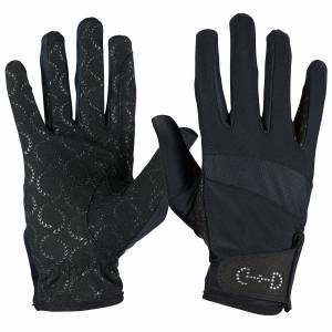 Horze Ladies Breathable Crystal Cuff Riding Gloves