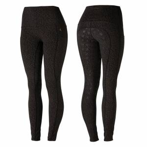 Horze Ladies Limited Edition Scarlett Tights with Bronze Print