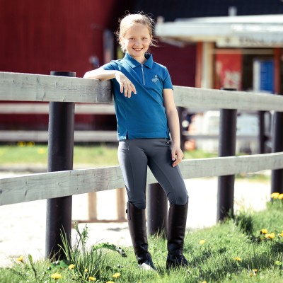 Horze Kids Gracie Silicone Full Seat Riding Tights with Phone Pocket