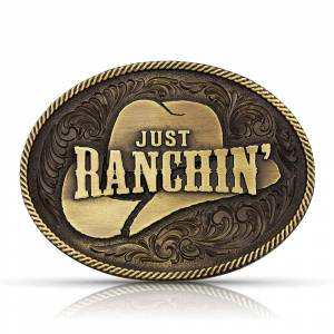 Montana Silversmiths Dale Brisby Just Ranchin' Buckle