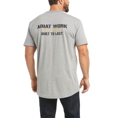 Ariat Mens Rebar Cotton Strong Work Done Right T-Shirt