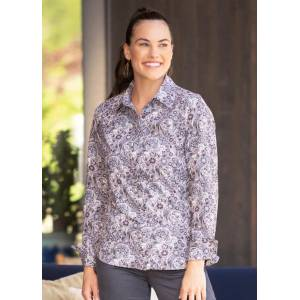 EQL by Kerrits Ladies Journey Button Front Printed Shirt