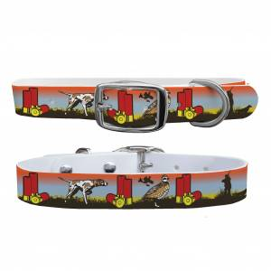 C4 Dog Collar Covey and Paddle - Pointer Sunset Collar