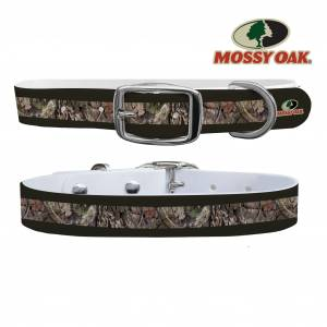 C4 Dog Collar Mossy Oak - Break Up Country Forest Green Stripes Collar