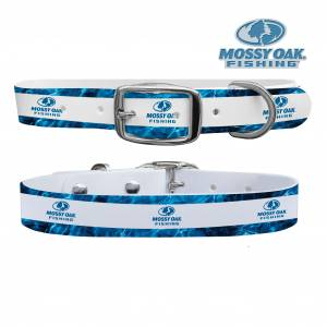 C4 Dog Collar Mossy Oak - Elements Fishing White Collar