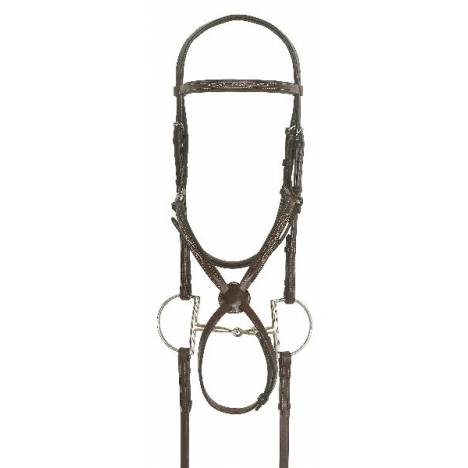 Ovation Jumper Bridle with Rubber Covered Reins