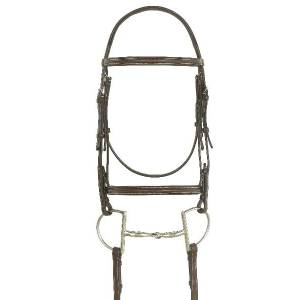 Ovation Ultra Raised Padded Bridle with Laced Reins