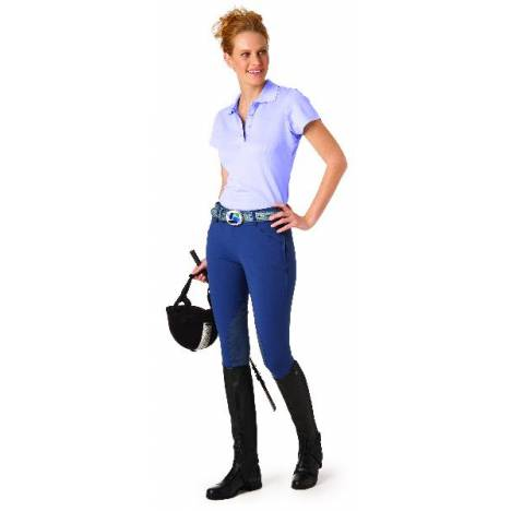 Ovation Ultra DX Ladies Side Zip Knee Patch Breeches