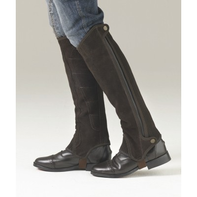 Ovation Precision Fit Half Chaps - Brown, Suede