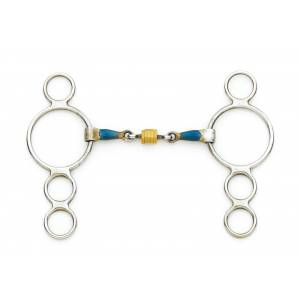 Centaur 2 Ring Gag with Loose Copper Roller Disks