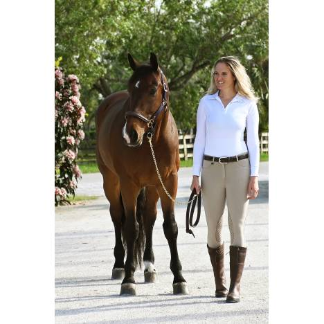 Ovation Euro Melange Knee Patch X-Grip Breeches - Ladies