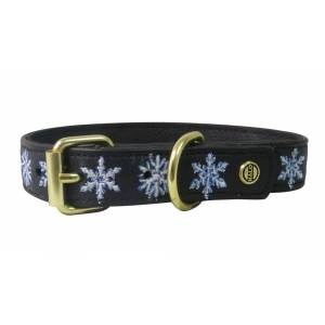 Halo Embroidered Snowflake Dog Collar