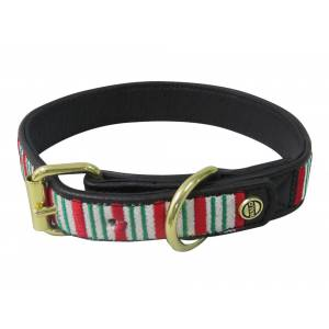 Halo Christmas Stripes Dog Collar