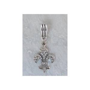 Joppa Crystal Stone Dangle Bead - Fleur-De-Lis