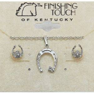 Finishing Touch Horseshoe with  Stone Gift Set - Crystal