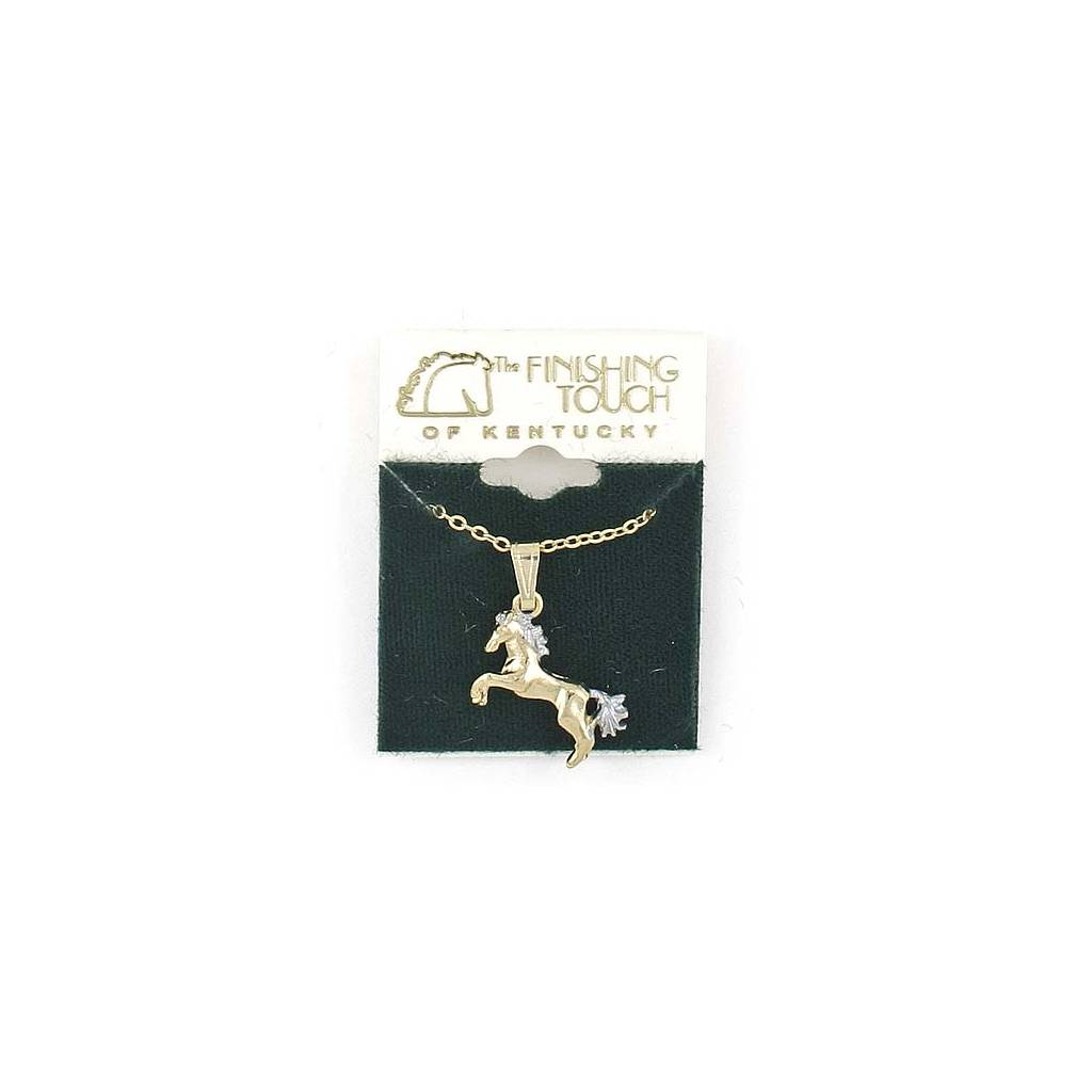 Finishing Touch Rearing Horse Necklace