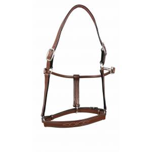 Fancy Padded Rolled Throat Triple Stiched Halter