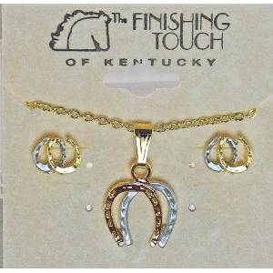 Finishing Touch 2-Tone Horseshoe Gift Set