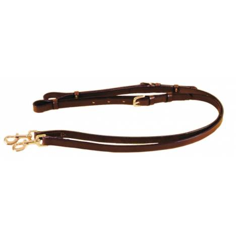 "TORY LEATHER 3/4"" Adjustable Leather Side Reins - Nickel Hardware"