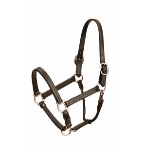 Tory Leather Triple Stitched Deluxe Track Halter With  Nickel Hardware
