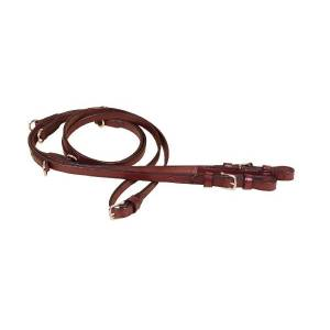 TORY LEATHER Center Buckle German Martingale Reins