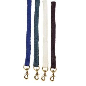 TORY LEATHER Flat Braided Cotton Rope Lead with  Brass Snap