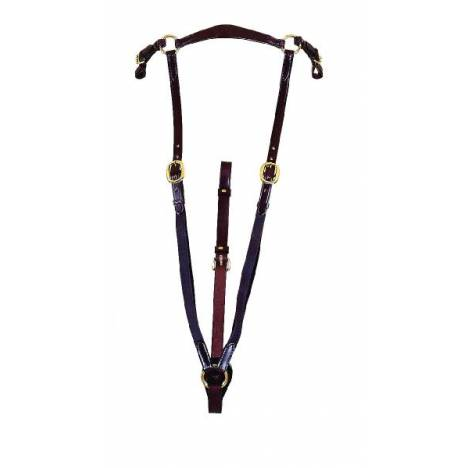 """TORY LEATHER 3/4"""" Bridle Leather Heavy Duty Hunt Breastplate"""