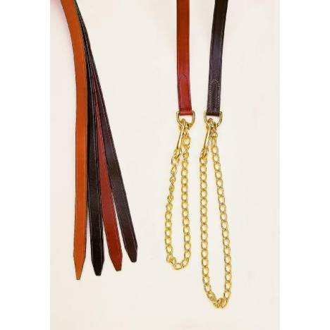 "TORY LEATHER 1"" Single Ply Lead - Brass Chain"