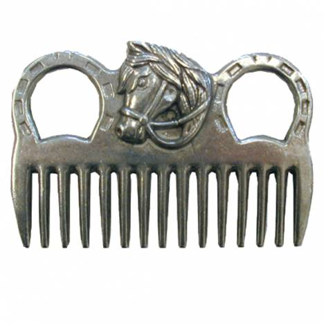 Aluminum Mane Comb With Horse Head