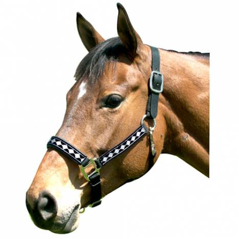 Leather Crown Diamond Pattern Halter
