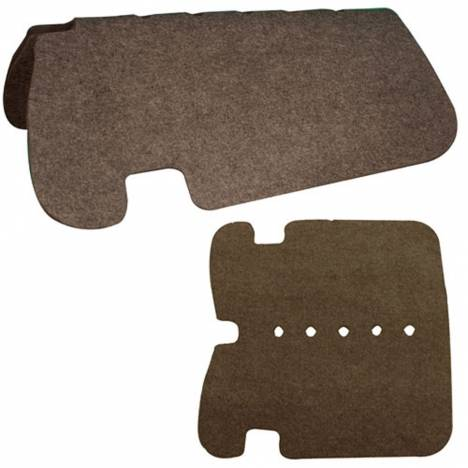 Intrepid Western Double Layer Felt Saddle Pad