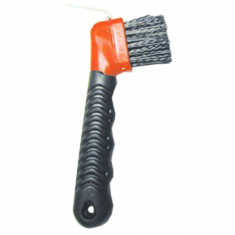 Rubber Grip Hoof Pick With Brush