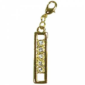 Exselle Color Stones Zipper Pull - Gold Plate