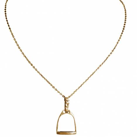 Exselle English Stirrup Iron Pendant - Gold Plate