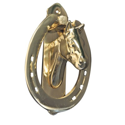 Solid Brass Horse Head Door Knocker