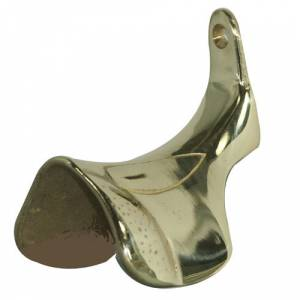 Intrepid English Saddle Bridle Hook - Brass