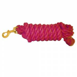 Cotton Lead Rope With Brass Snap