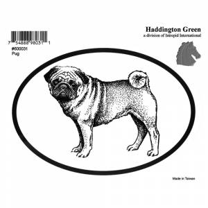 Dog Decal - Pug - Pack Of 6