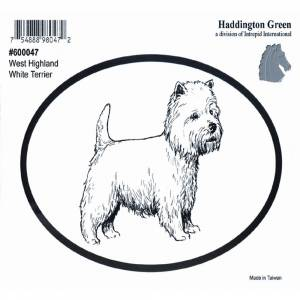 Dog Decal - West Highland White Terrier - Pack Of 6
