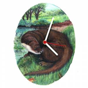 Oval River Otter Clock