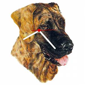 Great Dane Shaped Clock