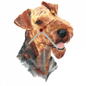 Airedale Shaped Clock