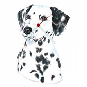 Dalmatian Shaped Clock