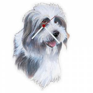Bearded Collie Shaped Clock