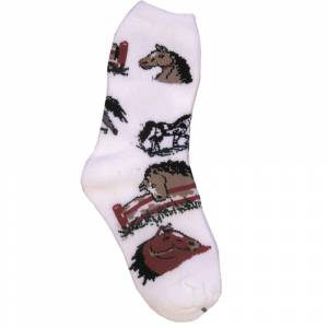 Horse Pattern Sock - Ladies