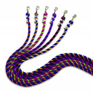 Perris Leather Neon Cotton Lead with Chain