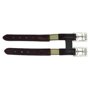 Perri's Leather Girth Extender With Elastic