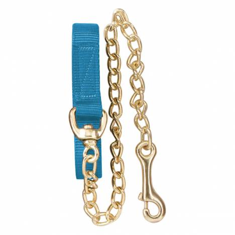 Perris Flat Nylon Lead with Brass Plated Chain