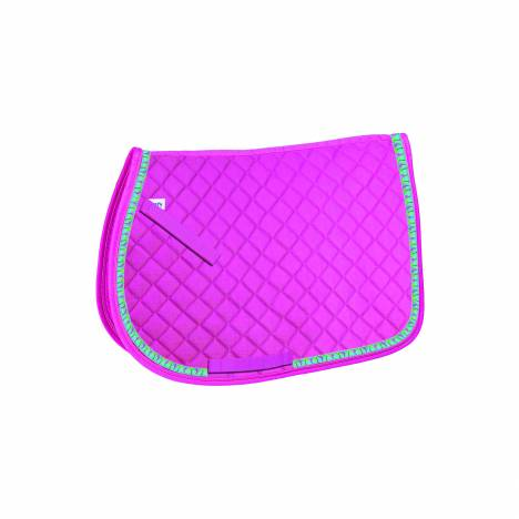Perri's All Purpose Saddle Pad with Ribbon Trim - Flamingos